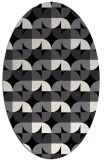 rug #103661 | oval white natural rug