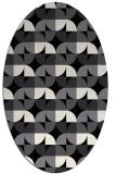rug #103661 | oval white popular rug