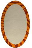 rug #1036634 | oval plain orange rug