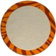 rug #1036642 | round beige animal rug