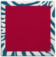 rug #1036806 | square plain red rug