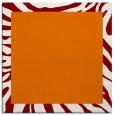 rug #1036894 | square plain orange rug