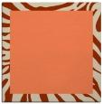 rug #1036898   square plain orange rug