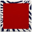 rug #1036938 | square plain red rug