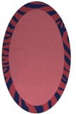 rug #1037149 | oval plain rug