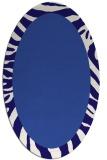 rug #1037154 | oval plain blue-violet rug