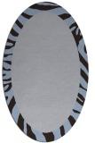 rug #1037162 | oval plain blue-violet rug