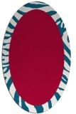 rug #1037170 | oval red animal rug