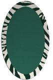 rug #1037186 | oval plain blue-green rug