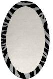 rug #1037194 | oval black stripes rug