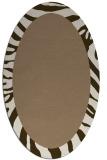 rug #1037206 | oval plain beige rug