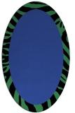 rug #1037250 | oval black stripes rug