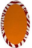 rug #1037258 | oval plain orange rug