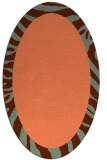 rug #1037266 | oval plain red-orange rug