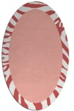 rug #1037282 | oval plain white rug