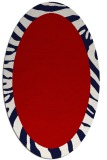 rug #1037302 | oval red animal rug