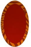 rug #1037306 | oval orange borders rug