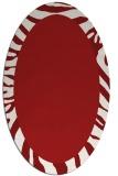 rug #1037310 | oval plain red rug