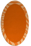 rug #1037322 | oval plain red-orange rug