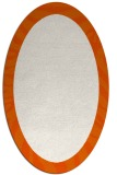 rug #1037330 | oval plain red-orange rug