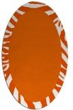 rug #1037333 | oval plain rug