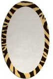 rug #1037350 | oval plain brown rug
