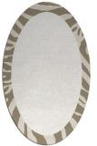 rug #1037362 | oval plain beige rug
