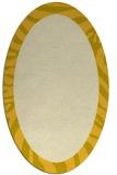 rug #1037366 | oval plain yellow rug
