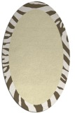 rug #1037370 | oval plain yellow rug