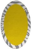 rug #1037374 | oval white stripes rug