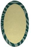 rug #1037382 | oval plain yellow rug