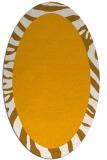 rug #1037402 | oval plain light-orange rug