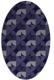 rug #103741 | oval blue-violet rug