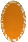 rug #1037410 | oval plain light-orange rug