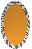 rug #1037414 | oval plain light-orange rug