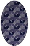 rug #103745 | oval blue-violet popular rug