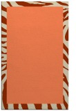 rug #1037626 |  plain orange rug