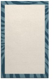 rug #1037722 |  plain blue-green rug