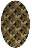 rug #103773 | oval mid-brown natural rug