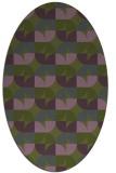 rug #103793   oval green rug