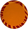 rug #1037982 | round plain orange rug