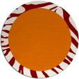 rug #1037986 | round plain orange rug