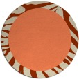 rug #1037990 | round plain orange rug
