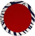 rug #1038030 | round red animal rug