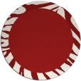 rug #1038038 | round red animal rug