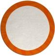 rug #1038058 | round red-orange borders rug