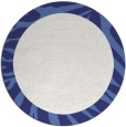 rug #1038074 | round plain blue rug
