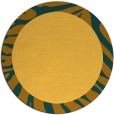 rug #1038106 | round plain yellow rug