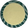 rug #1038110 | round blue-green borders rug