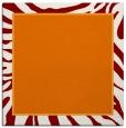 rug #1038718 | square orange animal rug